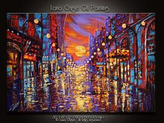 """36"""" Once Upon a Time ORIGINAL ABSTRACT Textured Oil Painting Palette Knife by Lana Guise"""