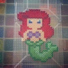 Disney Ariel Little Mermaid perler beads by kandikidyushi