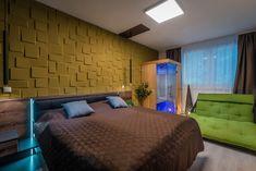 Modern minimalist bedroom with infrasauna. Infra Sauna, Modern Minimalist Bedroom, 3d Panels, Furniture, Home Decor, Homemade Home Decor, Infrared Sauna, Home Furnishings, Interior Design