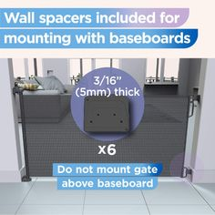 """Perma Indoor/Outdoor Retractable Baby Gate 33"""" Tall * (paid link) Click on the image for additional details. Retractable Baby Gate, Baby Gates, Dog Fence, Baseboards, Indoor Outdoor, Wall, Skirting Boards, Baseboard"""