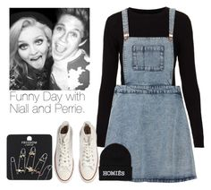 """""""Funny Day with Niall and Perrie."""" by tamera-579 ❤ liked on Polyvore featuring Topshop, Converse and Brian Lichtenberg"""