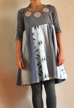 tutorial, recycled t-shirt and dress shirts,
