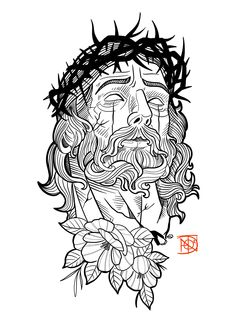 Holy Tattoos, Dream Tattoos, Christ Tattoo, Jesus Tattoo, Tattoo Design Drawings, Tattoo Sketches, Arm Tattoos Lettering, Greek Mythology Tattoos, Religious Tattoos