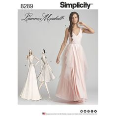8289 Simplicity Misses Formal Prom Evening Gown Bridesmaid Dress Leanne Marshall Design knee length Dress Maxi Dress Pattern Wedding Dress Sewing Patterns, Formal Dress Patterns, Patron Simplicity, Patterned Bridesmaid Dresses, Robes D'occasion, Gown Pattern, Simplicity Sewing Patterns, Formal Gowns, Evening Gowns