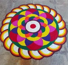 Get the best rangoli designs for competition in here. rangoli designs are a bit tricky but can be mastered with lots of practice and patience. Easy Rangoli Designs Videos, Simple Rangoli Designs Images, Rangoli Designs Flower, Rangoli Designs Latest, Small Rangoli Design, Colorful Rangoli Designs, Rangoli Ideas, Rangoli Designs Diwali, Flower Rangoli