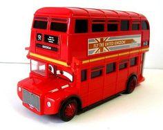 Disney Pixar Cars London Doubledecker Bus Crossroad Sir Topper Deckington Red