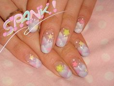 Find images and videos about nails, kawaii and pastel on We Heart It - the app to get lost in what you love. Nail Swag, Really Cute Nails, Pretty Nails, Cute Acrylic Nails, Gel Nails, Nail Nail, Stiletto Nails, Asian Nails, Asian Nail Art