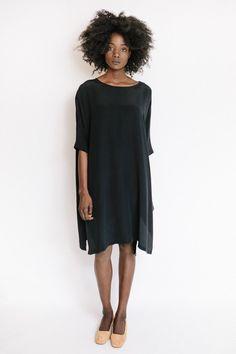 Revisited Silk Dress / Black