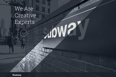 SUBWAY - One Page Wordpress Theme Themes SUBWAY is perfect full responsive CREATIVE Multipurpose Wordpress predefined different ver by www. Web Themes, Website Themes, Website Layout, Website Design Inspiration, Business Brochure, Business Card Logo, Web Business, Page Template, Website Template