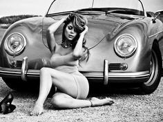 Porsche 356 cabriolet and girl #porsche #car #cargirl #Photography