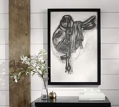 Charcoal Saddle Wall Art #potterybarn. I got this sweet deal at the store for $43.00. :)