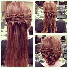 3 ways to wear a Waterfall braid.