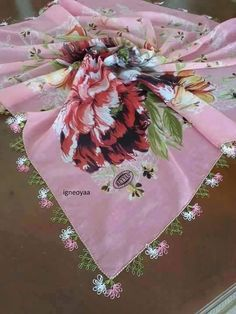 This Pin was discovered by NAL Needle Lace, Ribbon Embroidery, Baby Knitting Patterns, Tatting, Needlework, Diy And Crafts, Pink, Herbs, Craft