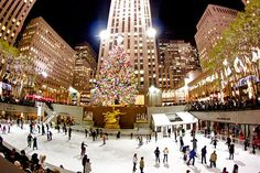 Skate below the famous Christmas tree at the Rink at Rockefeller Center (Photo: Petercruise/Flickr CC)