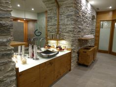 New spa and relaxation area - entrance with fresh fruits, Grander water and syrups. Zermatt, Park Hotel, Fresh Fruit, Entrance, Spa, Relax, Wellness, Water, Kitchen