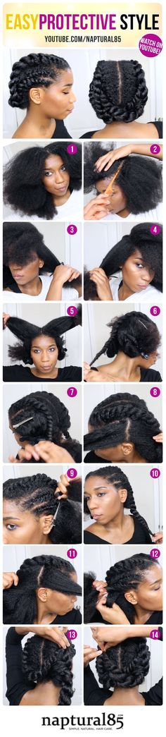 Naptural85 - Natural Hair Care Tips - Blog Content - Edgy Twisted Office + Gym Protective Natural Hairstyle | Work Out