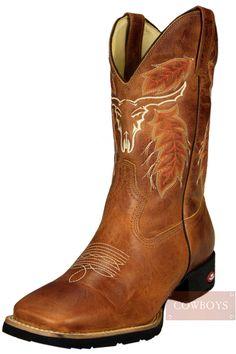 bota top country bico quadrado marrom solado de borracha p9503 - Busca na Loja  Cowboys - Moda Country 4115e85d06a