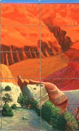 """David Hockney  One part of the canvases  """" A Closer Grand Canyon"""""""
