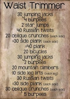 Healthy Lifestyle Tips And Workouts: Waist Trimmer Without Using Weights