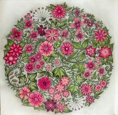 johanna basford secret garden flower mandala plus cahier de coloriage ...