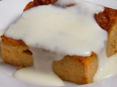 Pumpkin Bread Pudding with Rum Sauce Made this for thanksgiving dinner it is to die for
