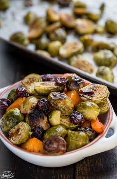 Balsamic Roasted Butternut Squash & Brussels Sprouts make an easy side dish.