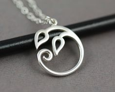 Circle of Leaves Sterling Silver Necklace