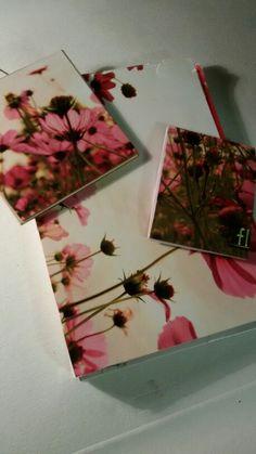Completo raccoglitore quadretto e booknotes fiori.