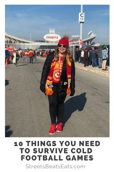 Heading to a winter football game anytime soon? First off, BRR, second off, let me help you! Here are some essentials that will help you survive the cold weather during a football game. Chiefs Football, Football Fans, Football Season, Chiefs Game, College Games, College Game Days, Outfits With Hats, Winter Outfits, Casual Outfits