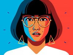 Asian Girl by Julian Burford Portrait illustration of an Asian girl (in Dr.Azumi style) I made for a client a few weeks back. Art And Illustration, Illustration Design Graphique, Art Graphique, Portrait Illustration, Character Illustration, Illustrations Posters, Animal Illustrations, Portraits Illustrés, Pop Art