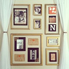 How to disguise a thermostat - Frame wall. Family Tree Wall, Family Room, Hide Thermostat, Interior Decorating, Decorating Ideas, Decor Ideas, Wall Fixtures, Diy Wall Decor, Home Decor