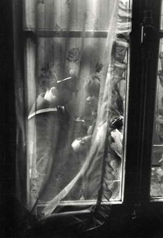 Willy Ronis, Les adieux, 1963 Things that Quicken the Heart: Black & White - Windows - Looking In, Looking Out