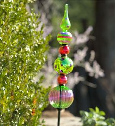 Main image for Glass Finial Totem Garden Stake