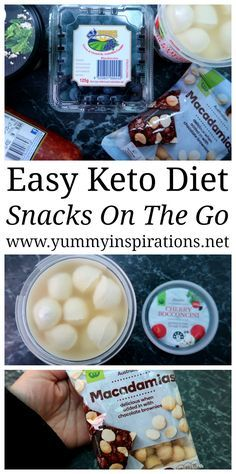 Easy Keto Snacks For On The Go - Low Carb Snack Foods & Ideas to pop into a snack box or lunch box when you're out and about, for work or late at night.
