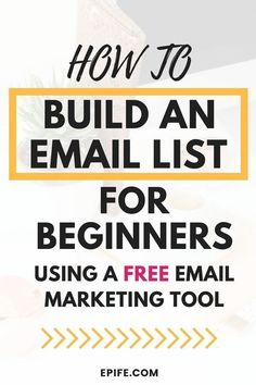 How To Build An Email List For Beginners & Grow It Everyday - Build an Email List - Ideas of Tips To Sell Your House Fast - Learn how to build an email list for beginners using a totally free email marketing tool. This post Best Email Marketing, Email Marketing Design, Email Marketing Campaign, Email Marketing Strategy, E-mail Marketing, Email Design, Business Marketing, Content Marketing, Online Marketing