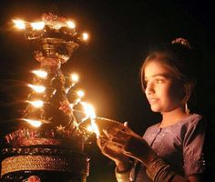 Diwali Festival of Lights which is a family-oriented festival with firecrackers, sweets, and the lighting of small clay lamps and candles.