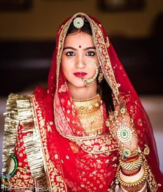 Looking for Bridal Lehenga for your wedding ? Dulhaniyaa curated the list of Best Bridal Wear Store with variety of Bridal Lehenga with their prices Rajasthani Lehenga, Rajasthani Bride, Rajasthani Photo, Indian Wedding Bride, Indian Bridal, Rajputi Jewellery, Rajputi Dress, Bridal Poses, Bridal Photoshoot