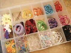 15 Cute Ways To Organize Girls Hair Accessories - Organised Pretty Home girls accessories organizer 15 Cute Ways To Organize Girls Hair Accessories - Organised Pretty Home Hair Tie Storage, Hair Tie Organizer, Organizing Hair Accessories, Handmade Hair Accessories, Kids Hair Accessories, House Accessories, Hair Supplies, Craft Supplies, Cute Box