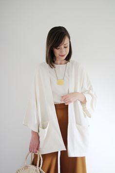 Kimono Jacket, Kimono Top, Sartorialist, Contemporary Fashion, Wide Leg Pants, Fashion Dresses, Style Inspiration, My Style, Womens Fashion