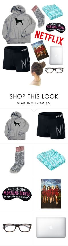 """gn y'all!"" by anabelkd ❤ liked on Polyvore featuring NIKE, Lands' End and Ray-Ban"
