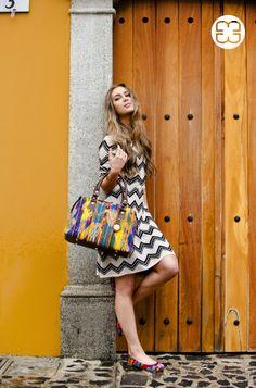 Take a walk and flaunt your Maria's Bag made of a huipil from San Juan, Sacatepéquez