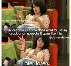 Speech by Alex Alex Russo, Selena Gomez, Old Kids Shows, New Disney Shows, Old Disney Channel, Graduation Speech, It Goes Like This, Disney Movies To Watch, Wizards Of Waverly Place