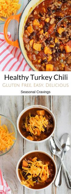 Healthy Turkey Chili- Easy, healthy and gluten free with a secret ingredient that makes it delicious!