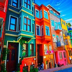 Architecture and design can be a bit mundane at times when it comes to integrating bright colours. This inspired me to source our four favourite colourful buildings around the world, Colors Of The World, Colourful Buildings, Beautiful Buildings, Colorful Houses, Favelas Brazil, Beautiful World, Beautiful Places, Wonderful Places, Color Of Life