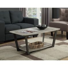 Metal Wood Coffee Table, Coffee Table Grey, Coffee Table Furniture, Grey Table, Cool Coffee Tables, Coffee Table With Storage, Ikea Furniture, Furniture Outlet, Furniture Deals