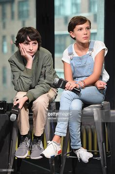 Actors Finn Wolfhard and Millie Bobby Brown of 'Stranger Things' attend the…