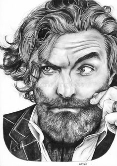 Tim Omundson by bonejangless << My friend Angie's artwork is INCREDIBLE. Check out her Red Bubble store! #Supernatural