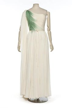 Evening dress, Madame Grès, 1950-55.