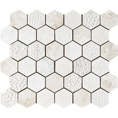 Diana Royal Textured Hexagon Marble Mosaics 10 3/8 X 12 3/8