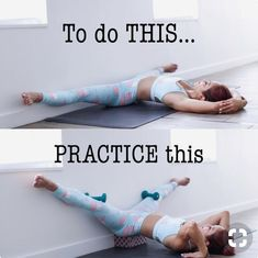 To achieve a deeper leg stretch against the wall try this!